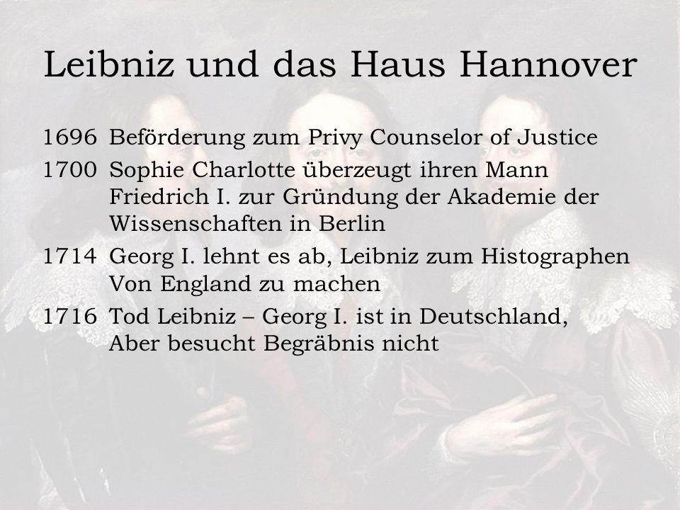 Leibniz und das Haus Hannover