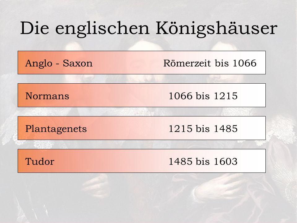 Die englischen Königshäuser