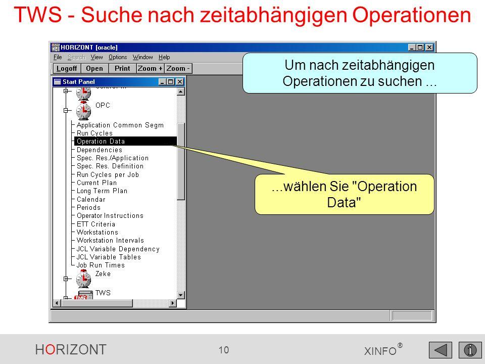 TWS - Suche nach zeitabhängigen Operationen