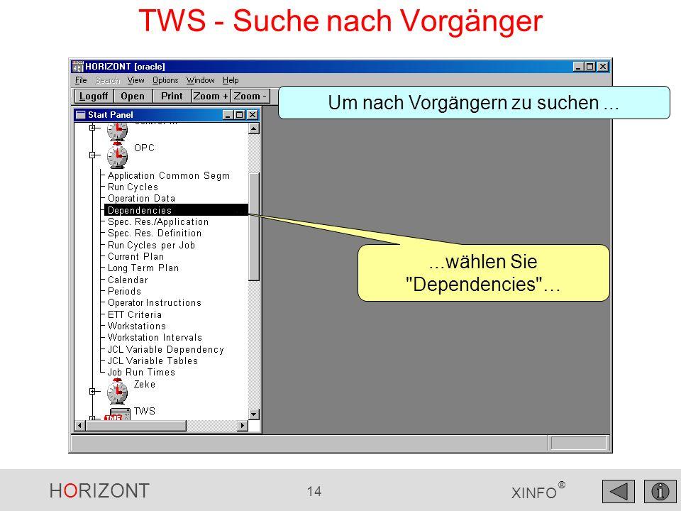 TWS - Suche nach Vorgänger