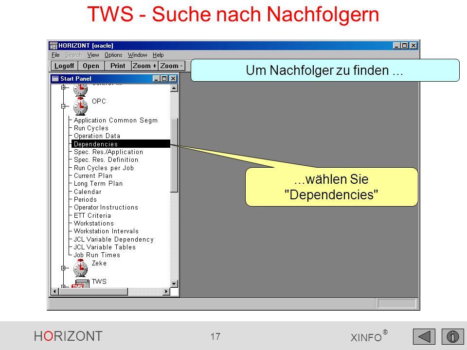 TWS - Suche nach Nachfolgern