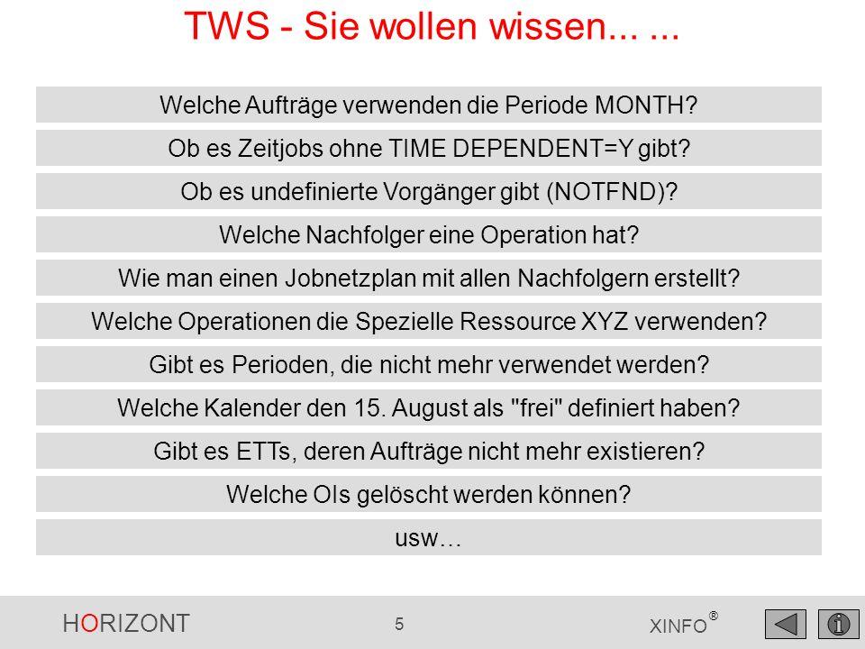 TWS - Sie wollen wissen... ... Welche Aufträge verwenden die Periode MONTH Ob es Zeitjobs ohne TIME DEPENDENT=Y gibt