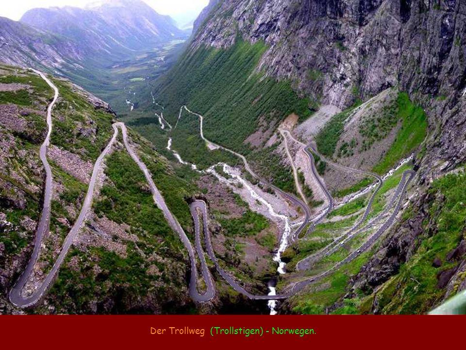 Der Trollweg (Trollstigen) - Norwegen.