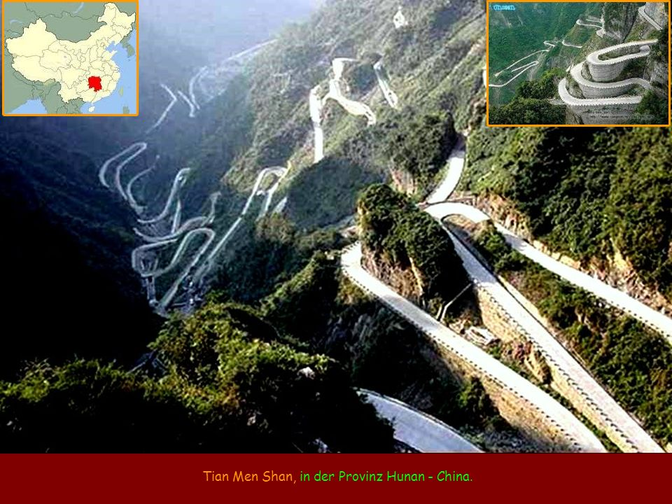 Tian Men Shan, in der Provinz Hunan - China.