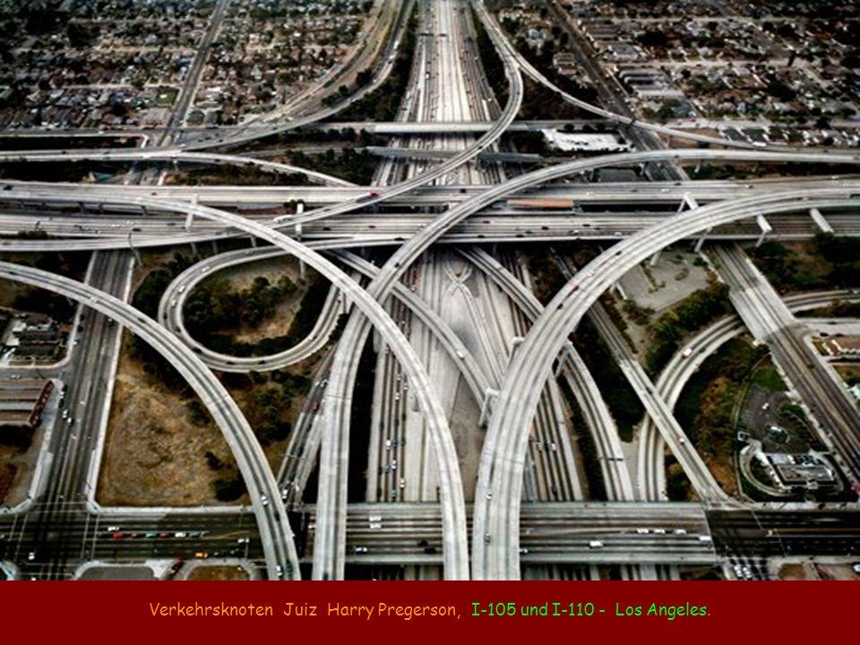 Verkehrsknoten Juiz Harry Pregerson, I-105 und I-110 - Los Angeles.