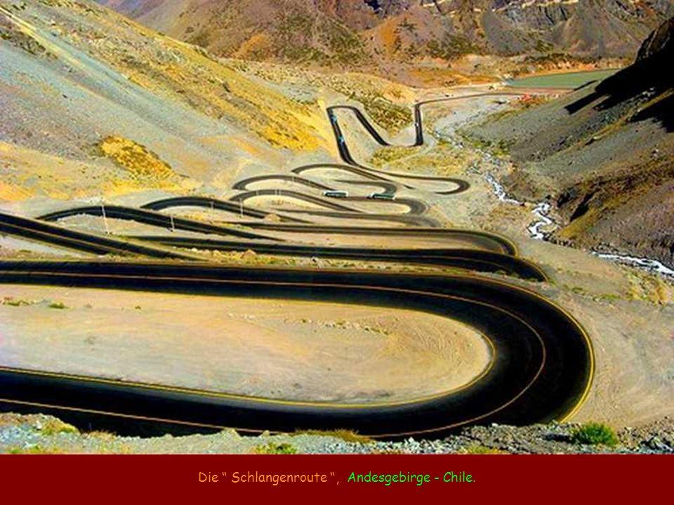 Die Schlangenroute , Andesgebirge - Chile.