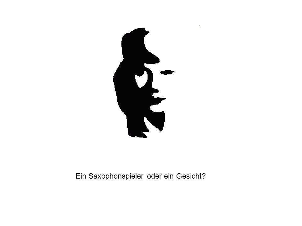 Ein Saxophonspieler oder ein Gesicht