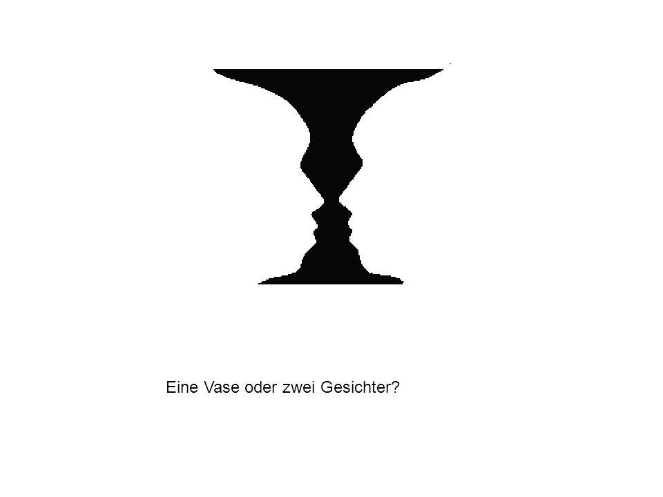 Eine Vase oder zwei Gesichter