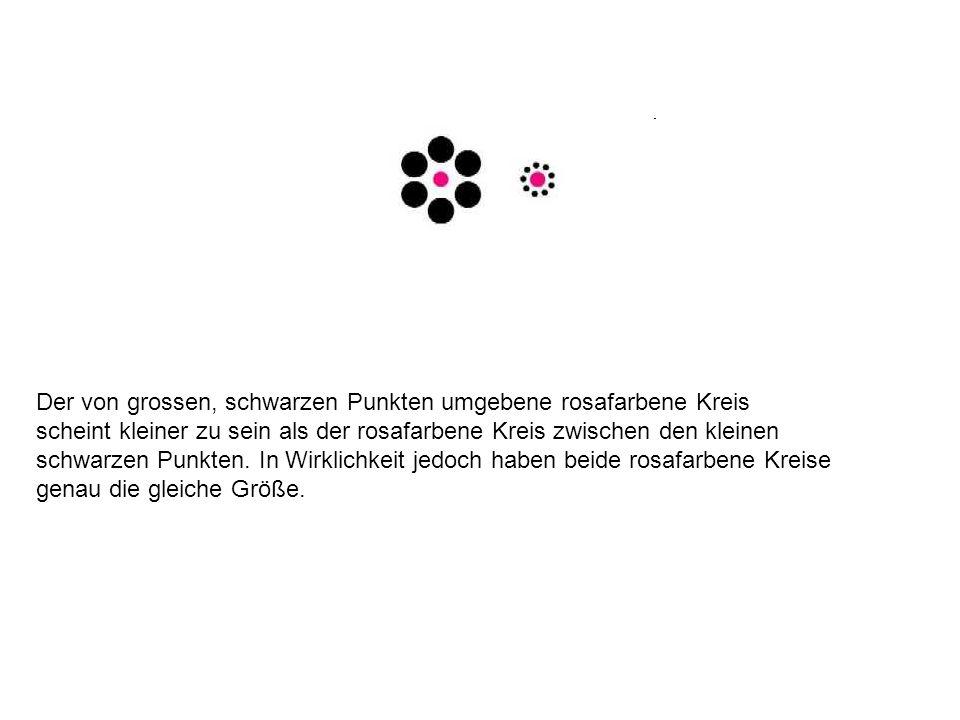 Der von grossen, schwarzen Punkten umgebene rosafarbene Kreis
