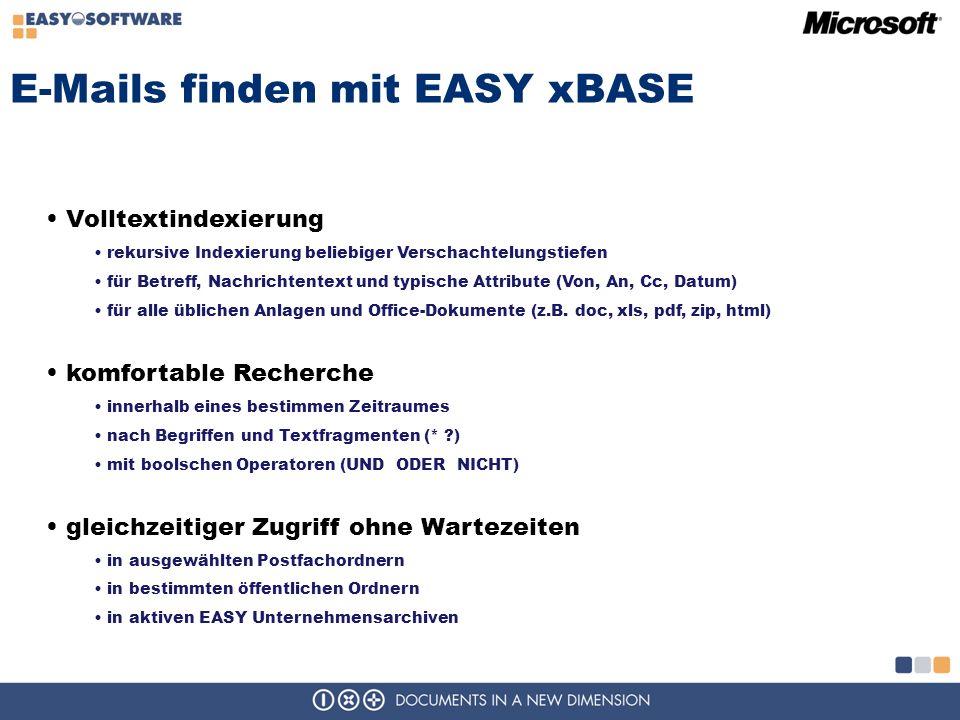 E-Mails finden mit EASY xBASE