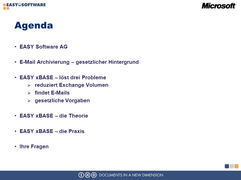 Agenda EASY Software AG E-Mail Archivierung – gesetzlicher Hintergrund