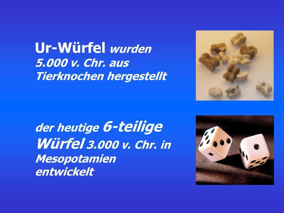 Ur-Würfel wurden 5.000 v. Chr. aus Tierknochen hergestellt