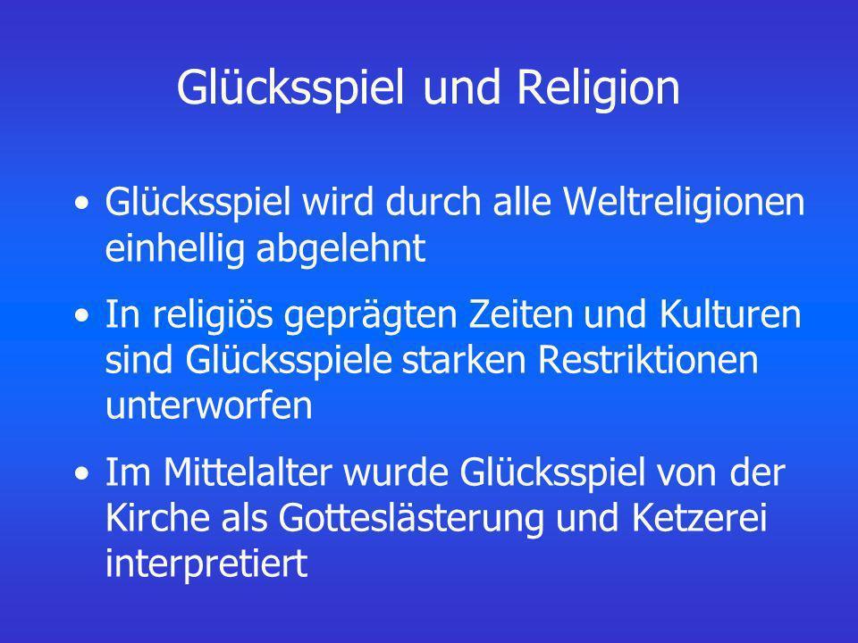 Glücksspiel und Religion
