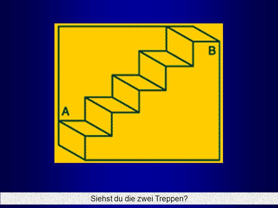 Siehst du die zwei Treppen