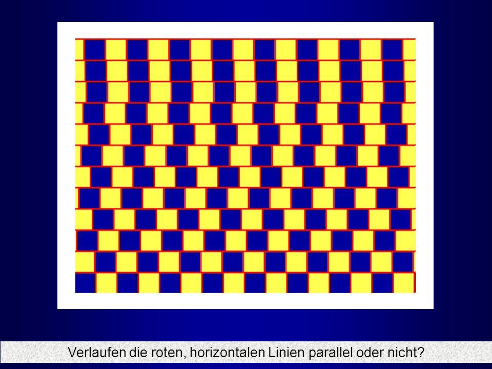Verlaufen die roten, horizontalen Linien parallel oder nicht
