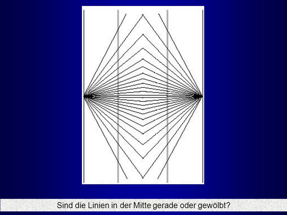 Sind die Linien in der Mitte gerade oder gewölbt
