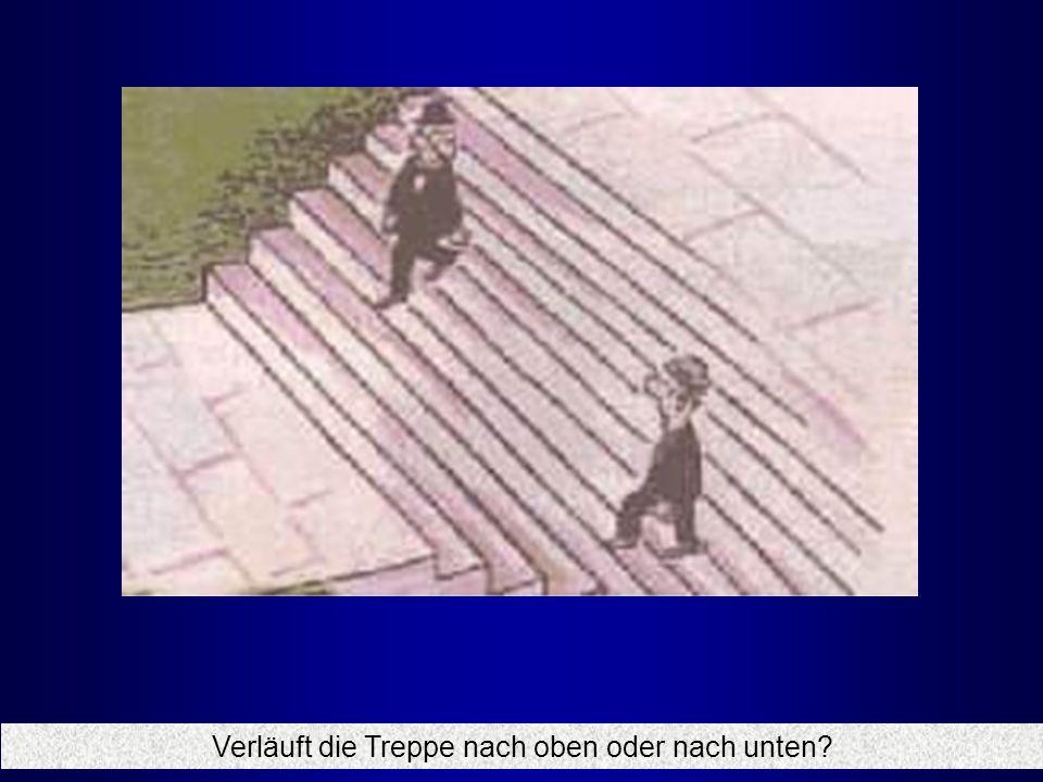 Verläuft die Treppe nach oben oder nach unten