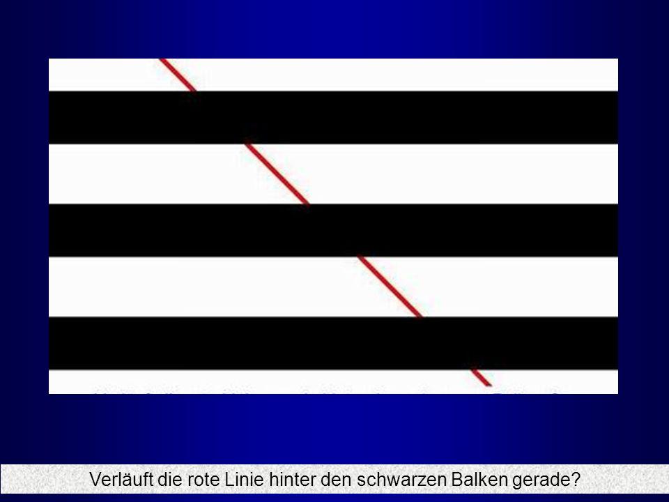 Verläuft die rote Linie hinter den schwarzen Balken gerade