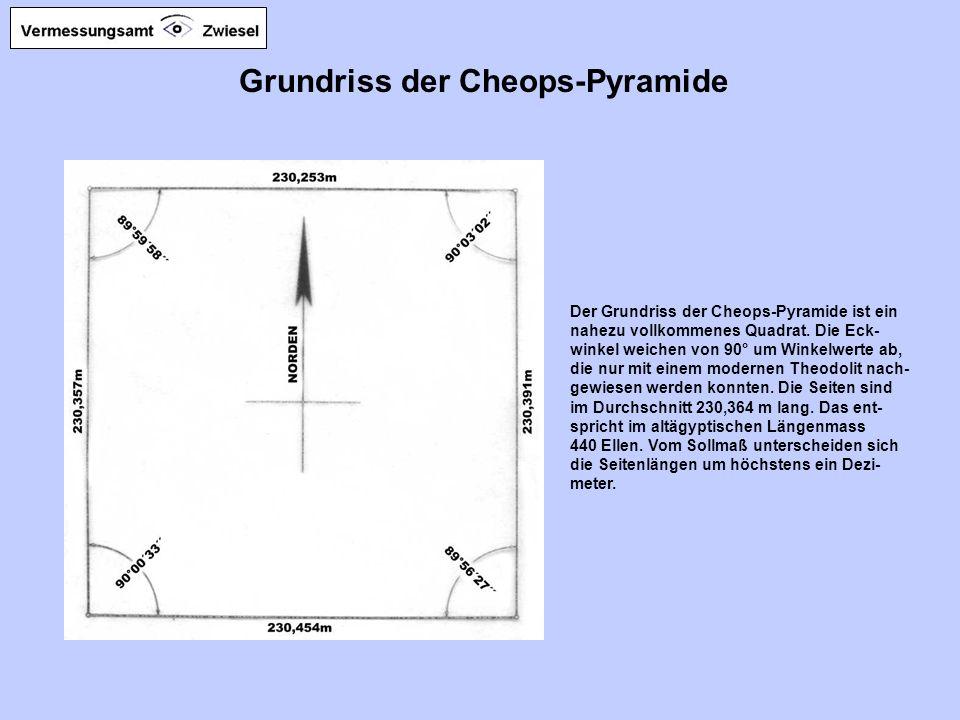 Grundriss der Cheops-Pyramide