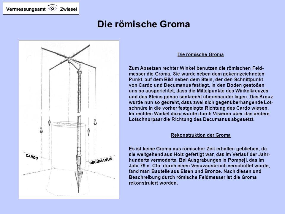 Rekonstruktion der Groma