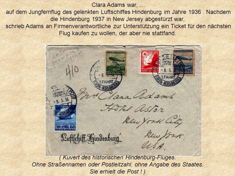 ( Kuvert des historischen Hindenburg-Fluges.