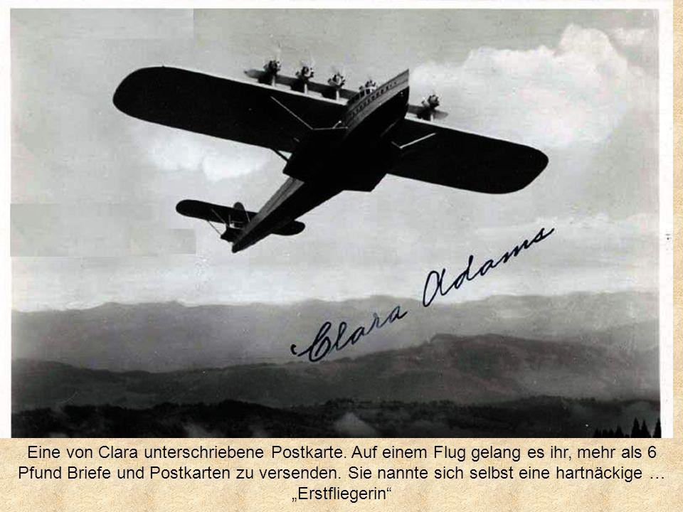 Eine von Clara unterschriebene Postkarte