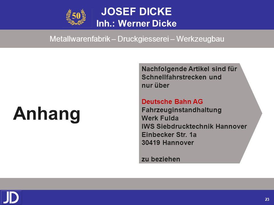 JOSEF DICKE Inh.: Werner Dicke