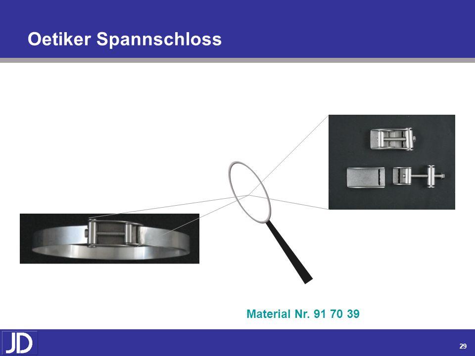 Oetiker Spannschloss Material Nr. 91 70 39