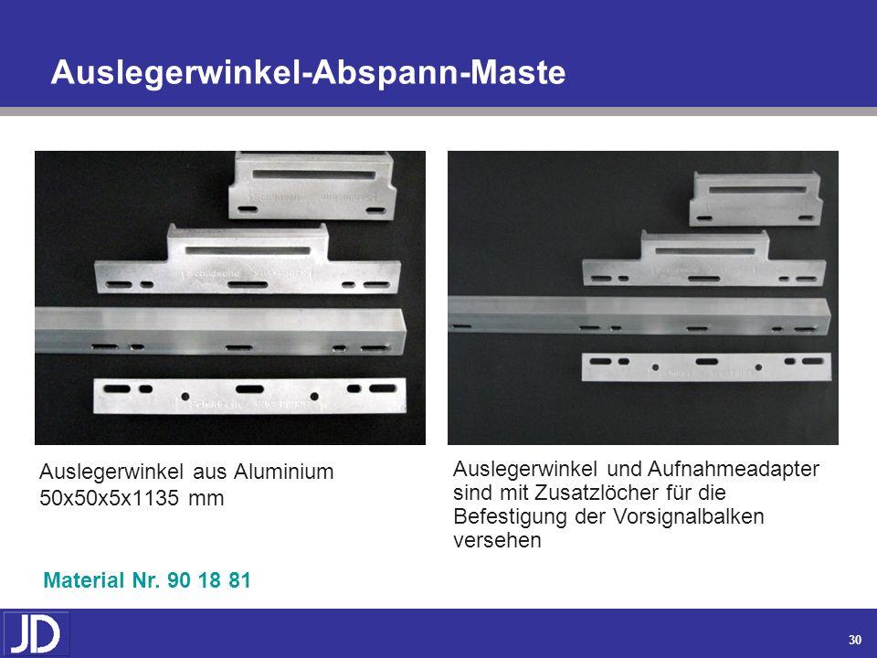 Auslegerwinkel-Abspann-Maste