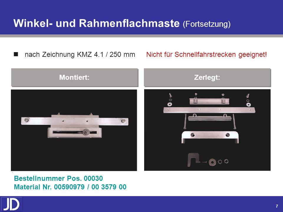 Winkel- und Rahmenflachmaste (Fortsetzung)