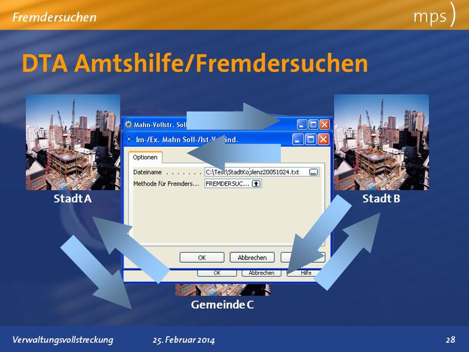 DTA Amtshilfe/Fremdersuchen