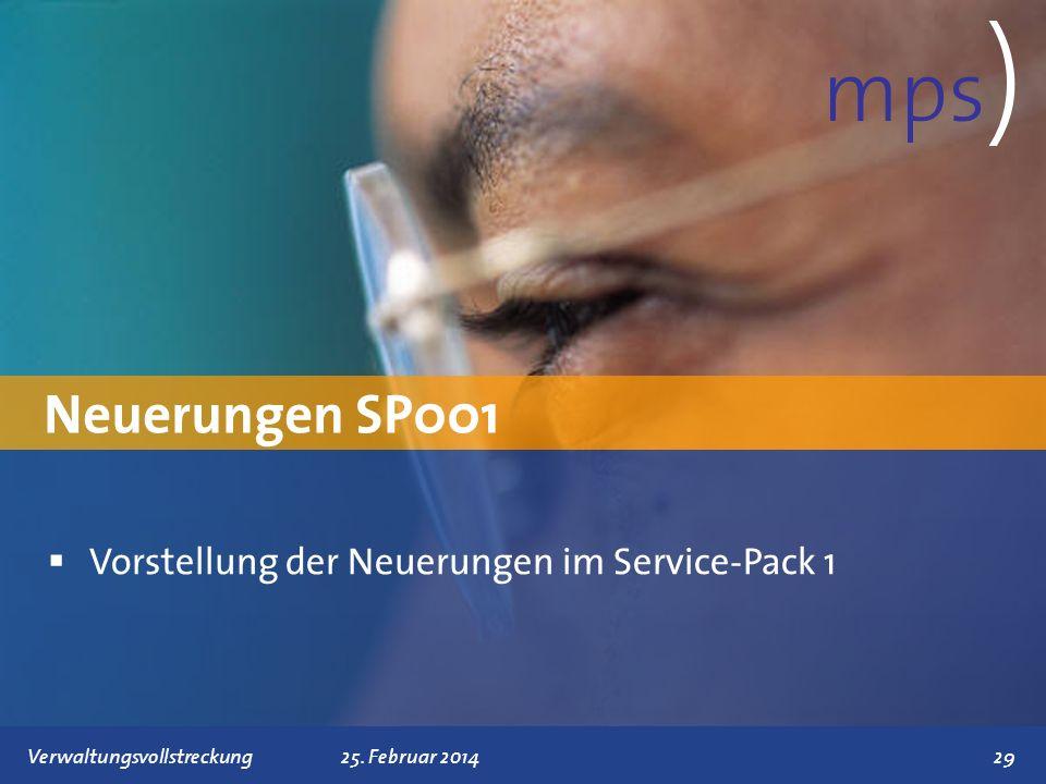 mps) Neuerungen SP001 Vorstellung der Neuerungen im Service-Pack 1