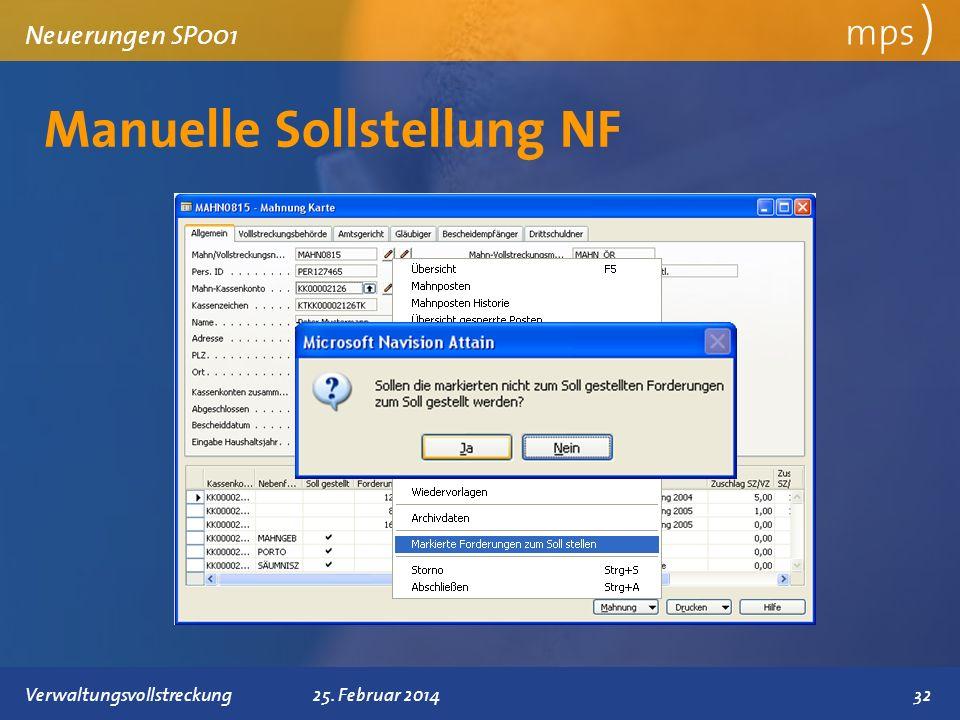 Manuelle Sollstellung NF
