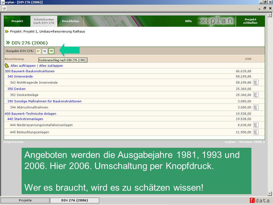 Angeboten werden die Ausgabejahre 1981, 1993 und 2006. Hier 2006
