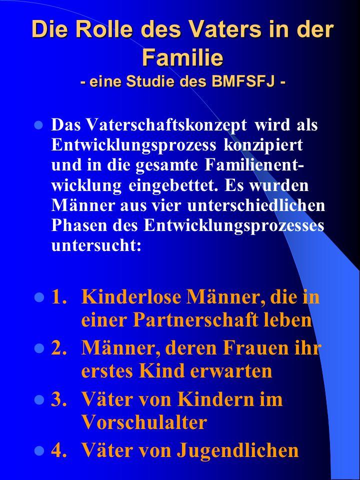 Die Rolle des Vaters in der Familie - eine Studie des BMFSFJ -