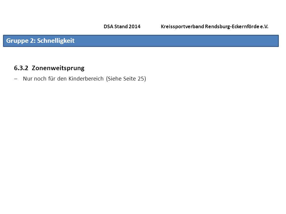 DSA Stand 2014 Kreissportverband Rendsburg-Eckernförde e.V.