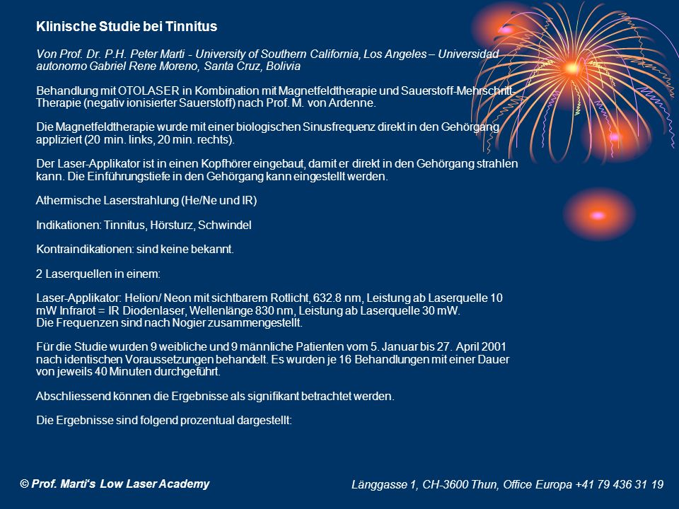 Klinische Studie bei Tinnitus