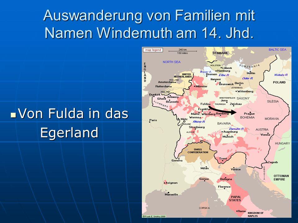 Auswanderung von Familien mit Namen Windemuth am 14. Jhd.