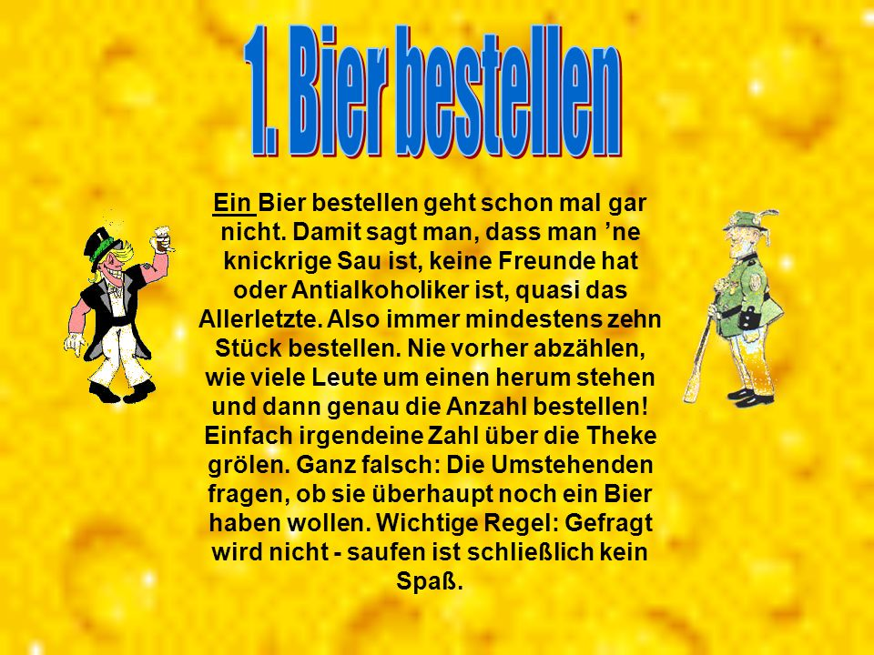 1. Bier bestellen