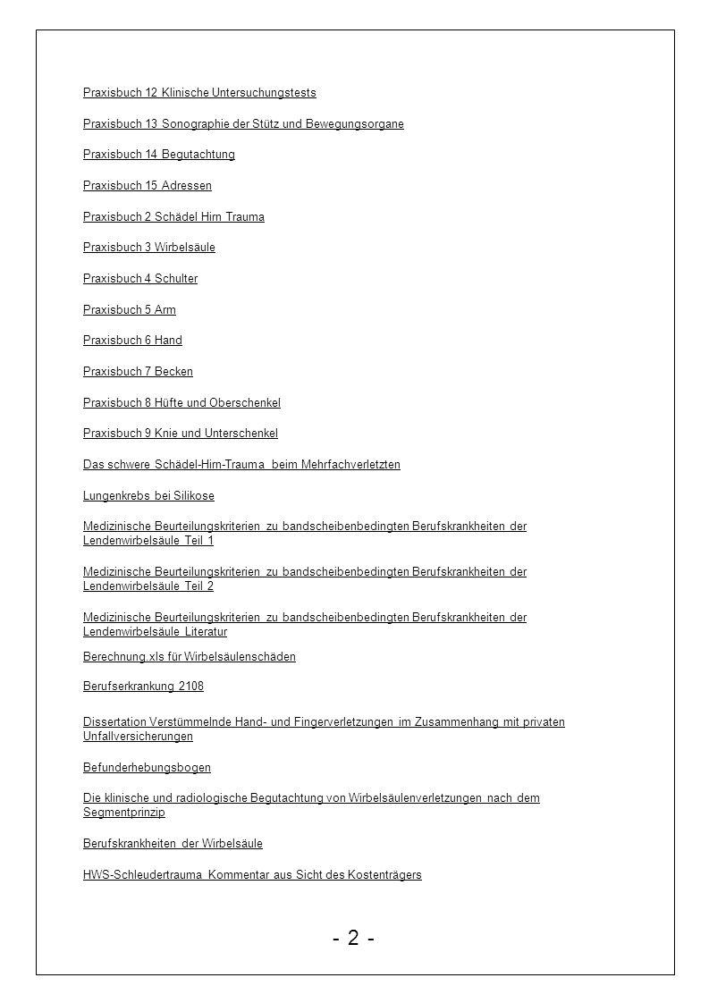 - 2 - Praxisbuch 12 Klinische Untersuchungstests