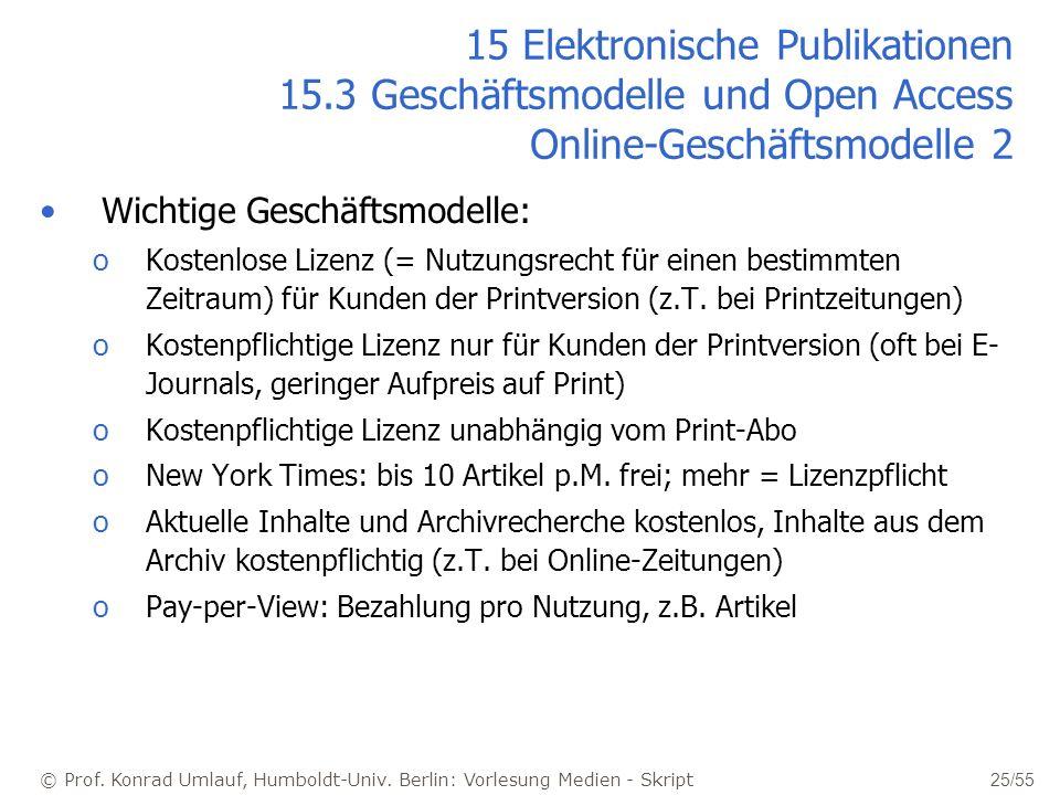 15 Elektronische Publikationen 15