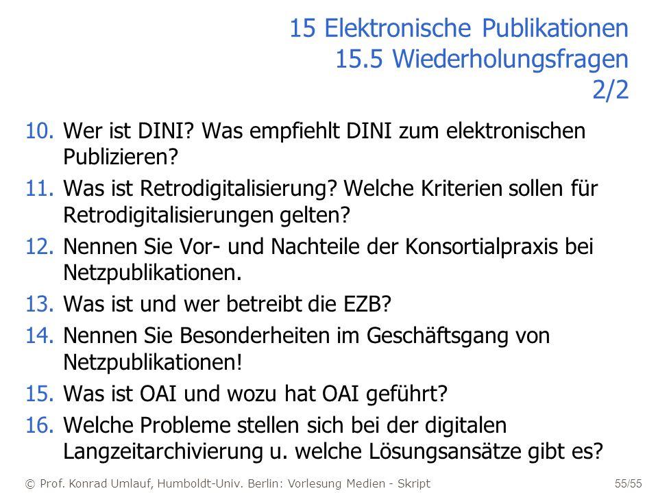 15 Elektronische Publikationen 15.5 Wiederholungsfragen 2/2
