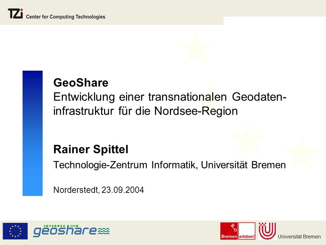 GeoShare Entwicklung einer transnationalen Geodaten-infrastruktur für die Nordsee-Region