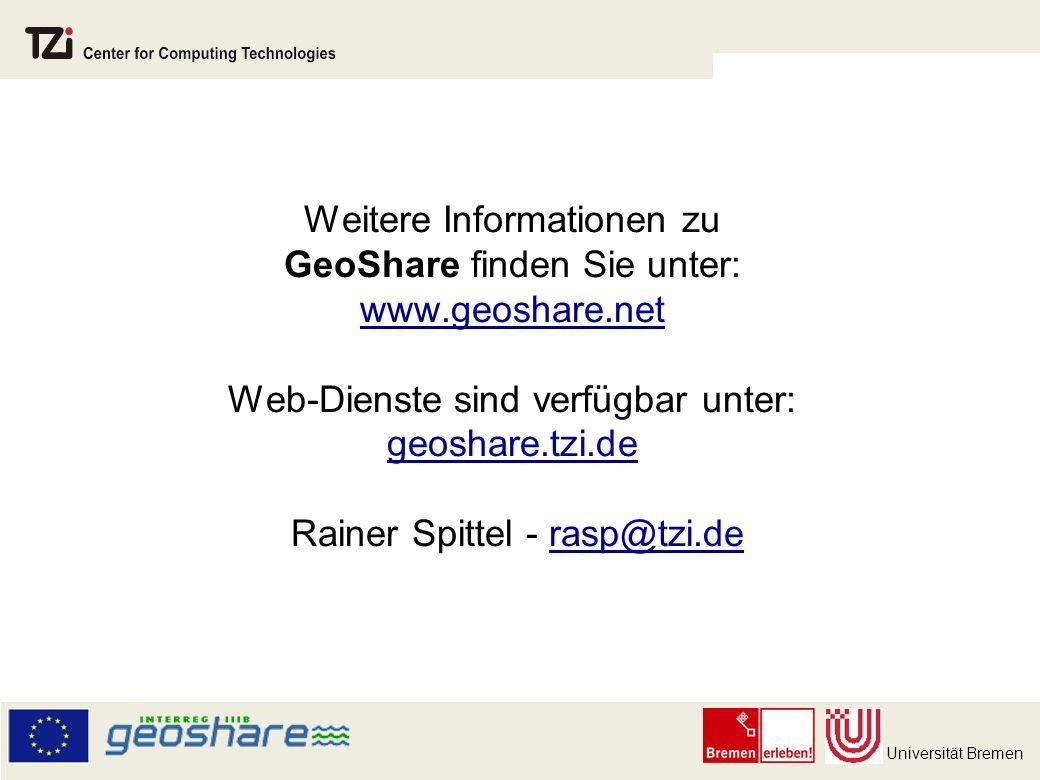 Weitere Informationen zu GeoShare finden Sie unter: www. geoshare