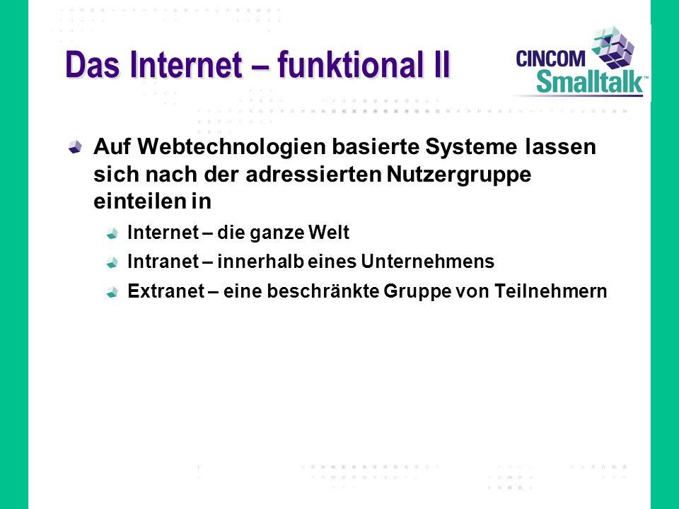 Das Internet – funktional II