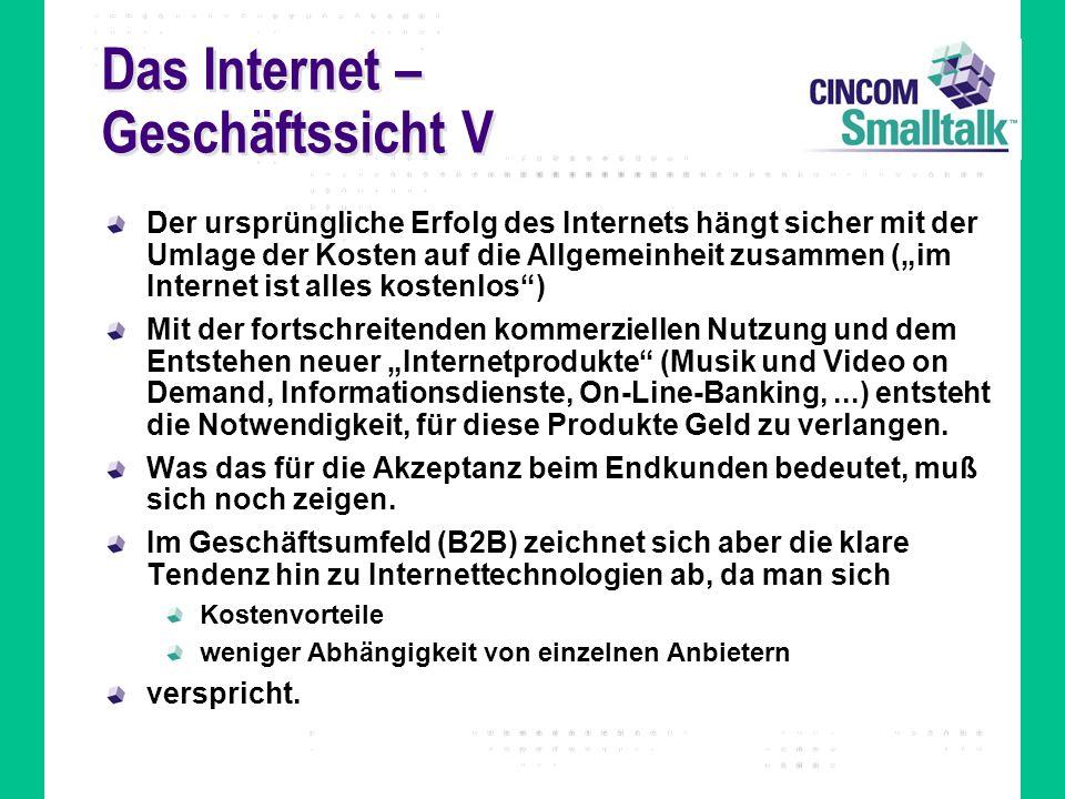Das Internet – Geschäftssicht V