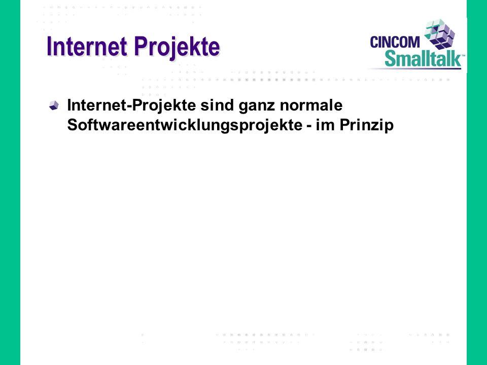 Internet Projekte Internet-Projekte sind ganz normale Softwareentwicklungsprojekte - im Prinzip