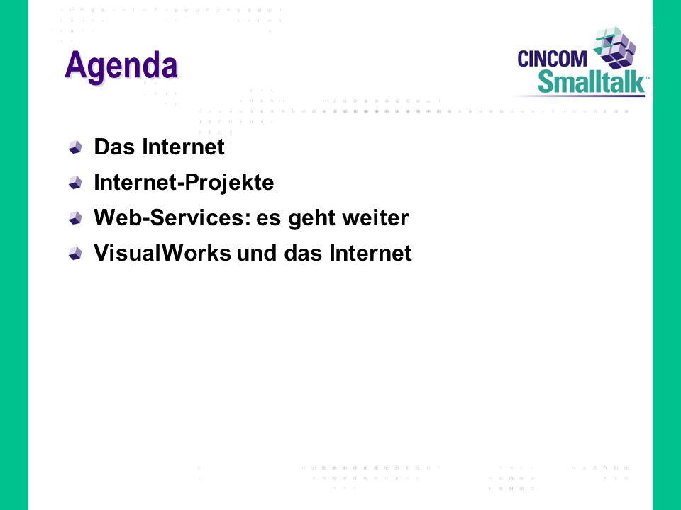 Agenda Das Internet Internet-Projekte Web-Services: es geht weiter