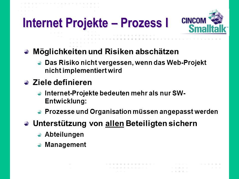 Internet Projekte – Prozess I