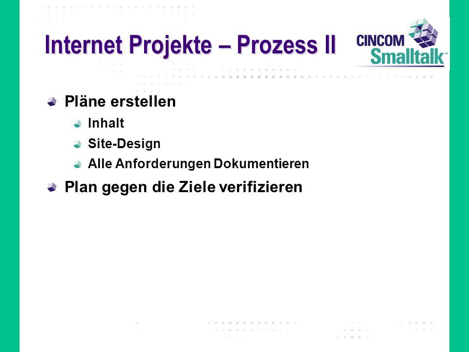 Internet Projekte – Prozess II